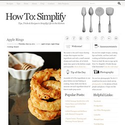 How To: Simplify: Apple Rings