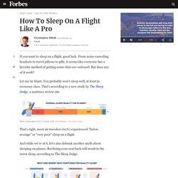How To Sleep On A Flight Like A Pro