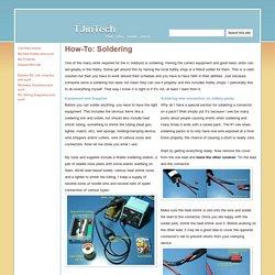 How-To: Soldering - TJinTech