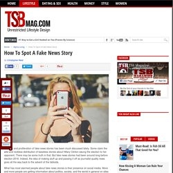 How To Spot A Fake News Story