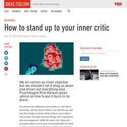 How to stand up to your inner critic
