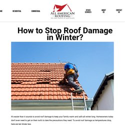 How to Stop Roof Damage in Winter