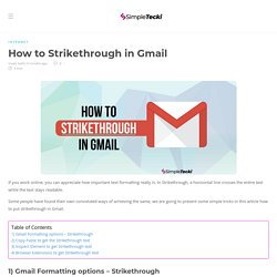 Gmail Strikethrough