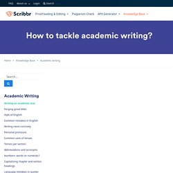 How to tackle academic writing?