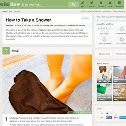 4 Ways to Take a Shower