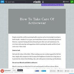 How To Take Care Of Activewear