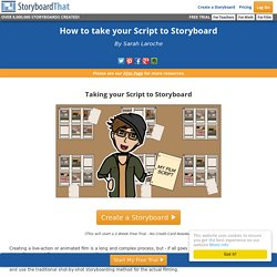 How to take your Script to Storyboard