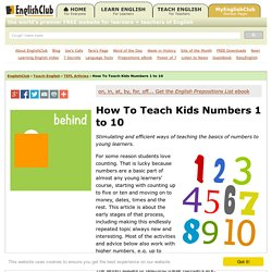 How To Teach Kids Numbers 1 to 10