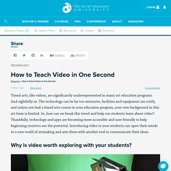 How to Teach Video in One Second