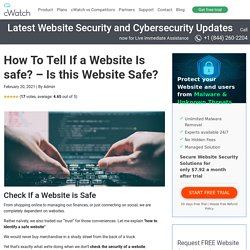 How To Tell If a Website Is Safe