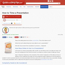 How to Time a Presentation
