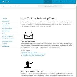 followup then Le moyen le plus simple de planifier un rappel par e-mail