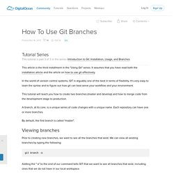 How To Use Git Branches