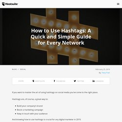 How To Use Hashtags: The Do's and Don'ts of hashtags