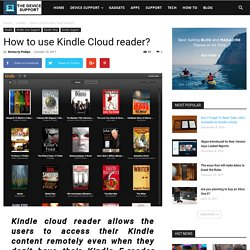 How to use Kindle Cloud reader?