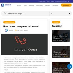 How to use queue in Laravel