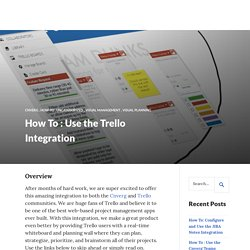 How To : Use the Trello Integration
