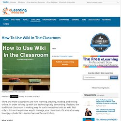 How To Use Wiki In The Classroom