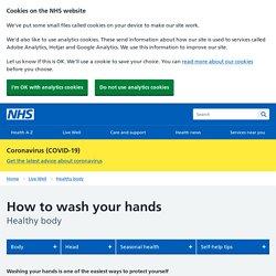 Site du NHS (UK) en anglais