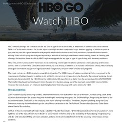 How to watch HBO GO abroad
