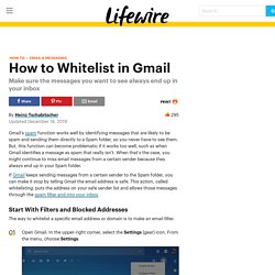 How to Whitelist in Gmail