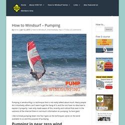 How to Windsurf - Pumping - How To Windsurf 101