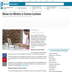 Cover Letters - How to Write a Cover Letter