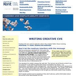 How to write a creative CV