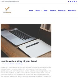 How to write a story of your brand