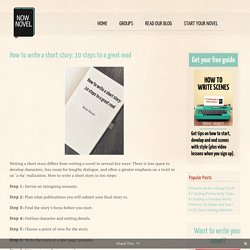 How to Write a Short Story: 10 Steps