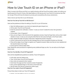 How to Use Touch ID on an iPhone or iPad? - Ask Setup