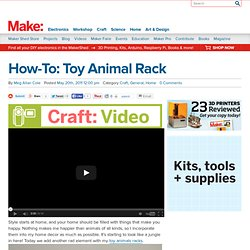 Toy Animal Rack