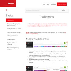 How to track time in real time?