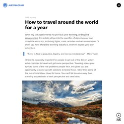 How to travel around the world for a year