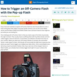 How to Trigger an Off-Camera Flash with the Pop-up Flash