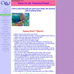 How to do TummyTime!