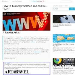 How to Turn Any Website into an RSS Feed