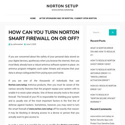 HOW CAN YOU TURN NORTON SMART FIREWALL ON OR OFF?