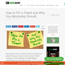 How to Pin a Tweet and Why You Absolutely Should
