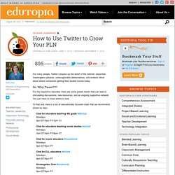 How to Use Twitter to Grow Your PLN