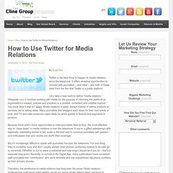 How to Use Twitter for Media Relations