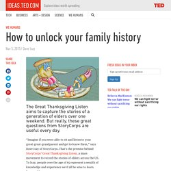 How to unlock your family history