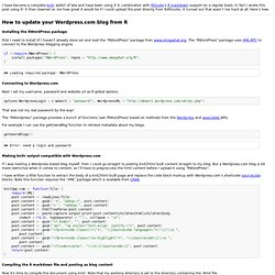How to update your Wordpress.com blog from R