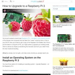 How to Upgrade to a Raspberry Pi 3