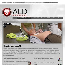 How to use an aed machine - AED One-Stop Shop