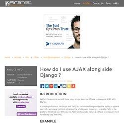 How do I use AJAX along side Django ?