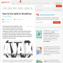 How to use Ajax in WordPress