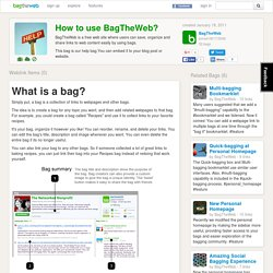 How to use BagTheWeb?