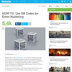 HOW TO: Use QR Codes for Event Marketing