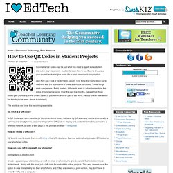 How to Use QR Codes in Student Projects